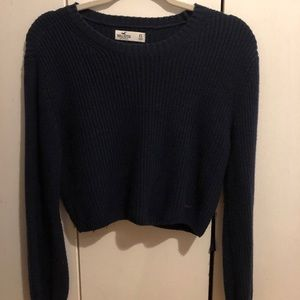 Navy Hollister Cropped Sweater